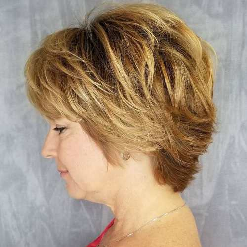 Short-To-Medium Layered Haircut Over 50