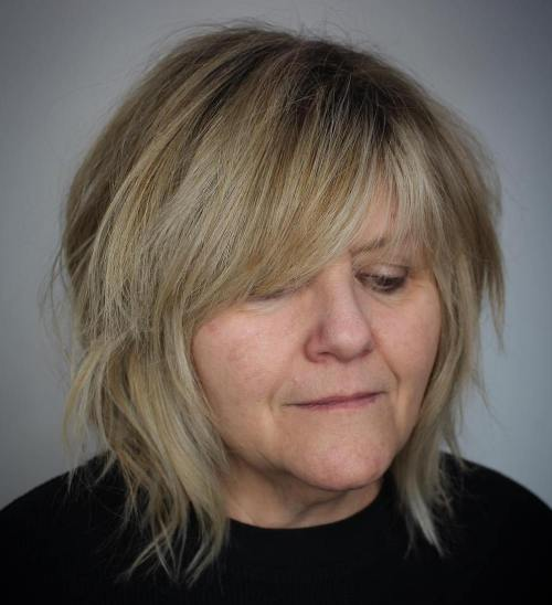 Soft Layered Bob with Shadow Root