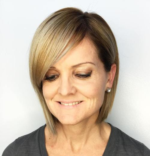 Smooth Side-Swept Bangs