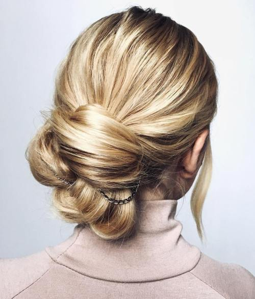 Bedazzled Knotted Low Bun