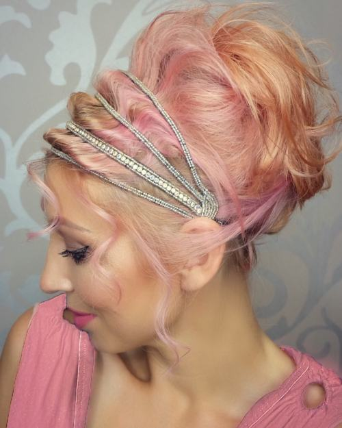 Glam And Colourful Grecian Updo