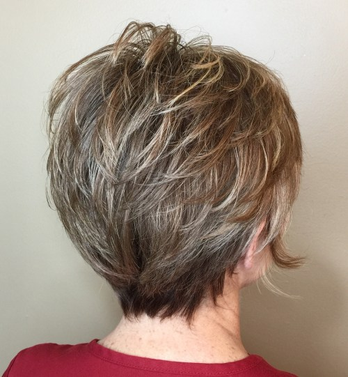 Voluminous Layered Pixie Cut
