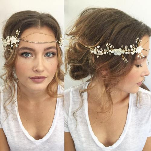 Gorgeous Flowery Low Bun