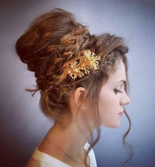 Greek Goddess-Inspired Braided Updo
