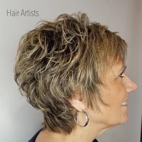 Short Tapered Shaggy Haircut For Women Over 50