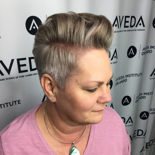 Women's Pompadour For Round Faces And Thin Hair