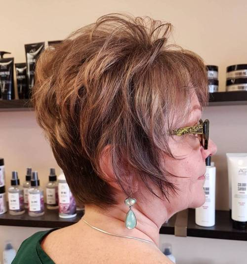Youthful Funky Pixie Cut With Long Sideburns