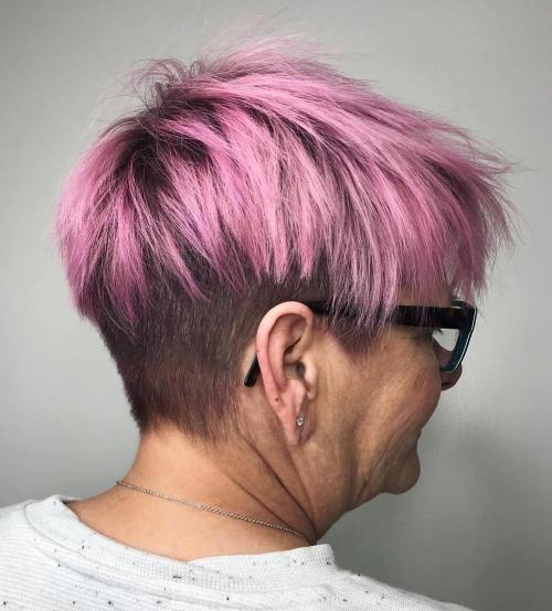 50+ Choppy Pixie With Nape Undercut