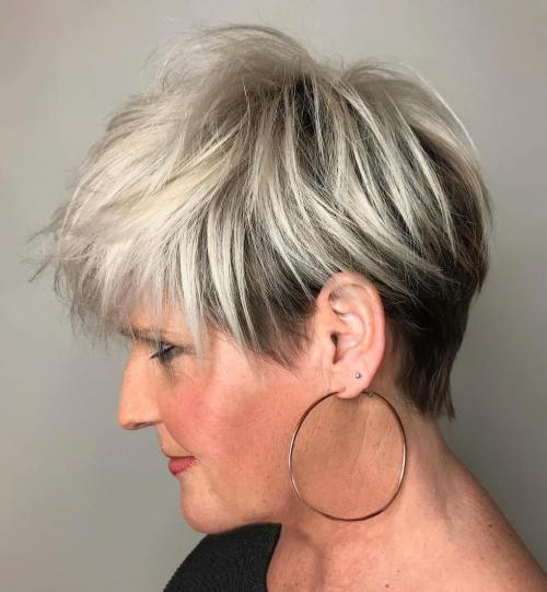Brown And Blonde Undercut Pixie