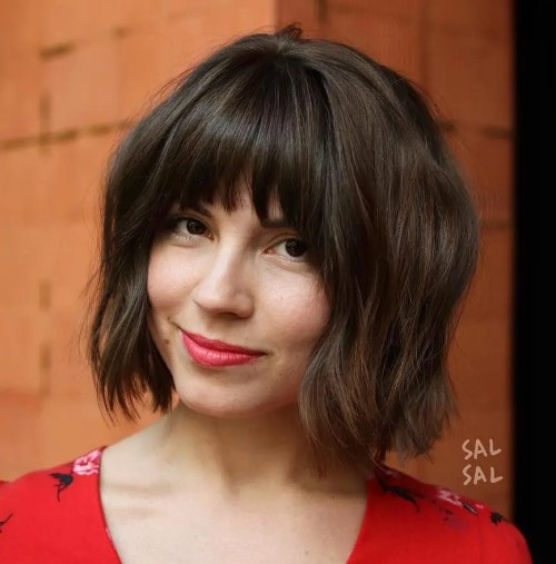 Best Short Wavy Hair With Bangs Ideas For 2018