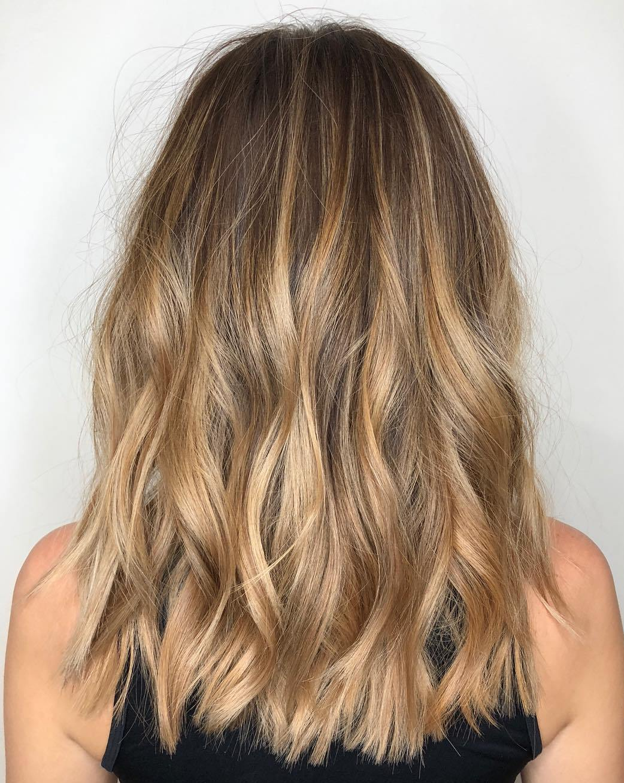 Dark Warm Bronde Balayage Hair