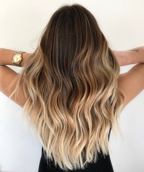 Bronde Ombre Balayage Long Hair