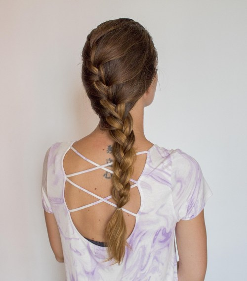 Loose Side French Braid