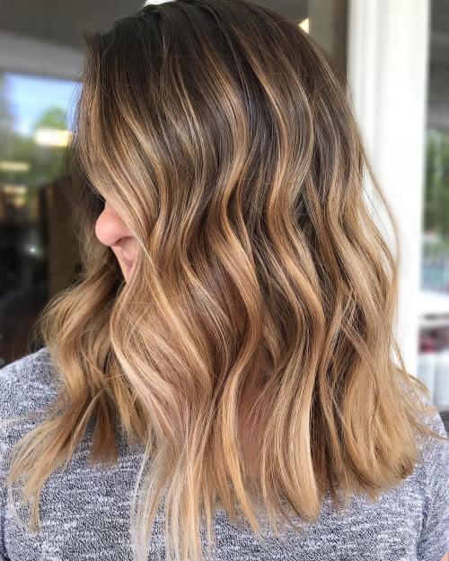 Brunette Hair With Caramel Bronde Highlights