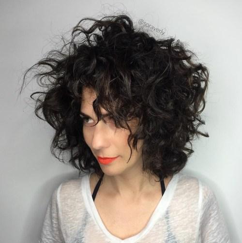Messy Medium Permed Hairstyle