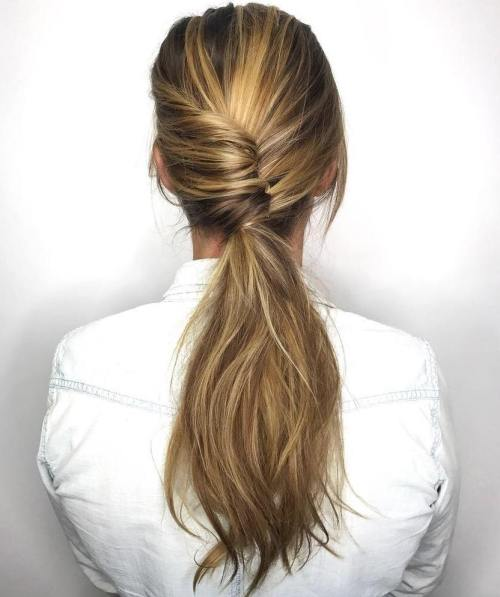 Reverse French Twist