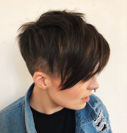 Long Punk-Inspired Comb-Over