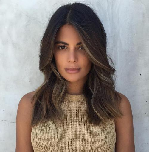 Black Brown Balayage Hair