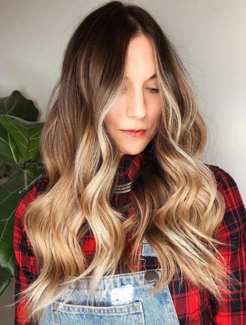 Caramel Bronde Balayage Hair