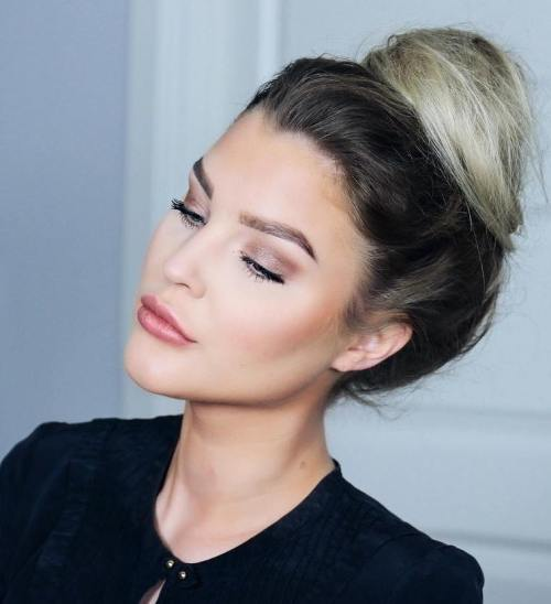 High Messy Bun Hairstyle