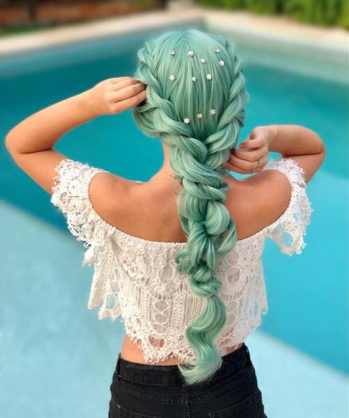 Rope Braid Party Hairstyle