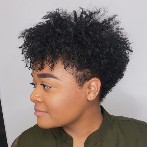 Women's Curly Taper Cut