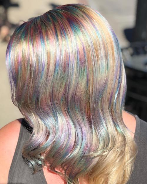 Rainbow Colored Waves