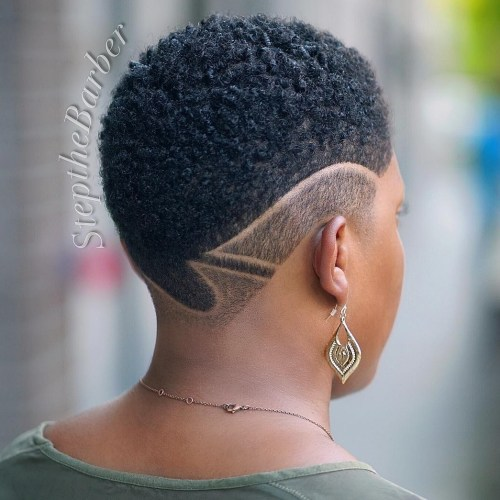Extra Short Natural Undercut with Shaved Design