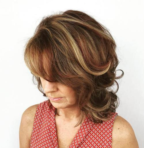 Mid-Length Brown Layered Hairstyle