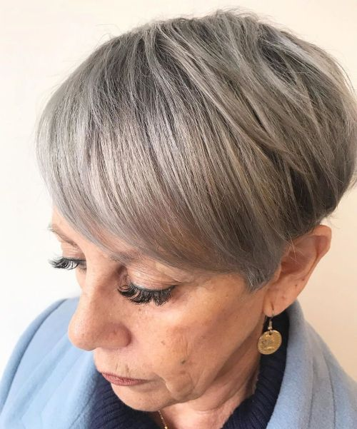 Straight Tapered Pixie Over 60