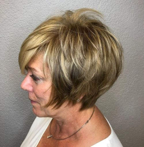 Long Feathered Pixie For Older Women