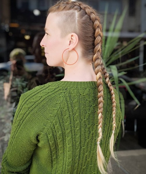 Long Hair with Square Side Undercuts