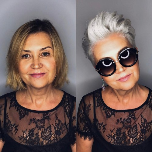 Silver Pixie For Women Over 40