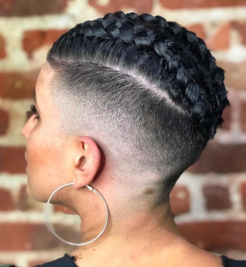 Fade Undercut wWith Braided Top