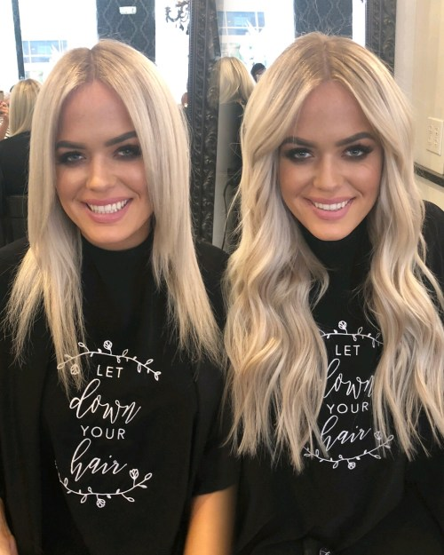 Long Platinum Blonde Hair With Extensions