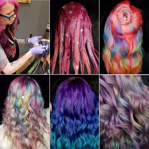 Unicorn Hair Coloring Options