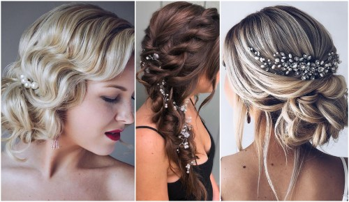 Wedding Hair With Adornments