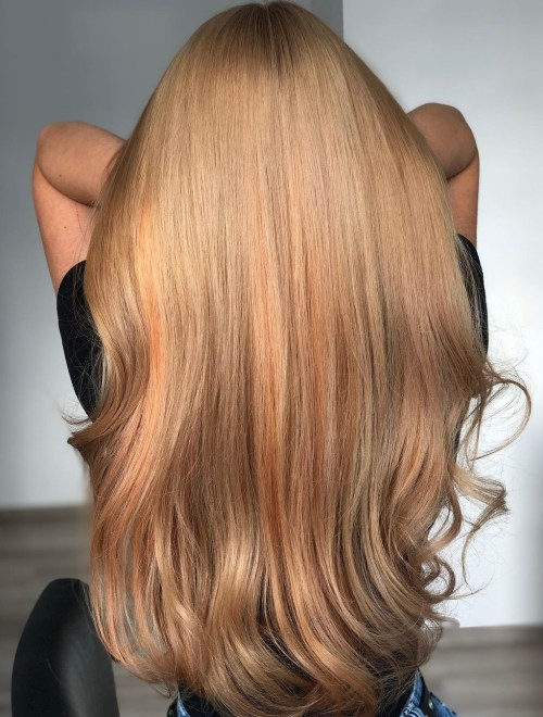 Copper Hair Color with Honey Blonde Hues