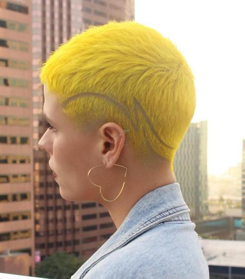Yellow Tapered Cut