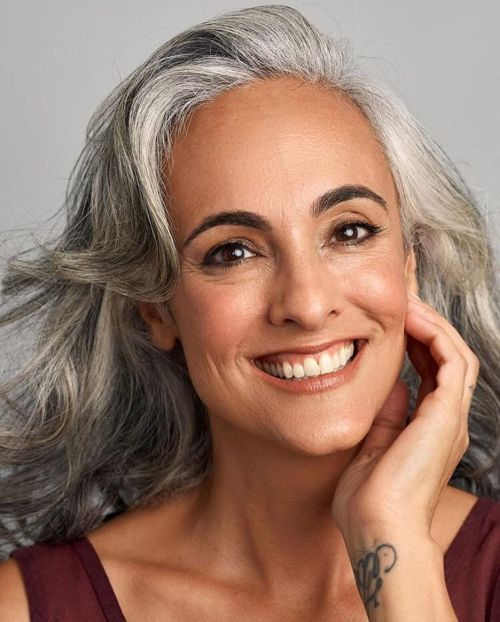 Claudine Penedos Long Gray Hair