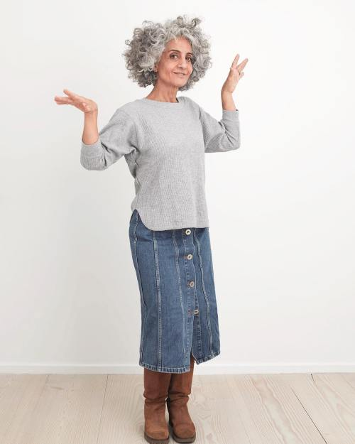 Curly Gray Bob For Women Over 50