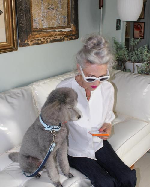 Messy Gray Top Knot For Older Women