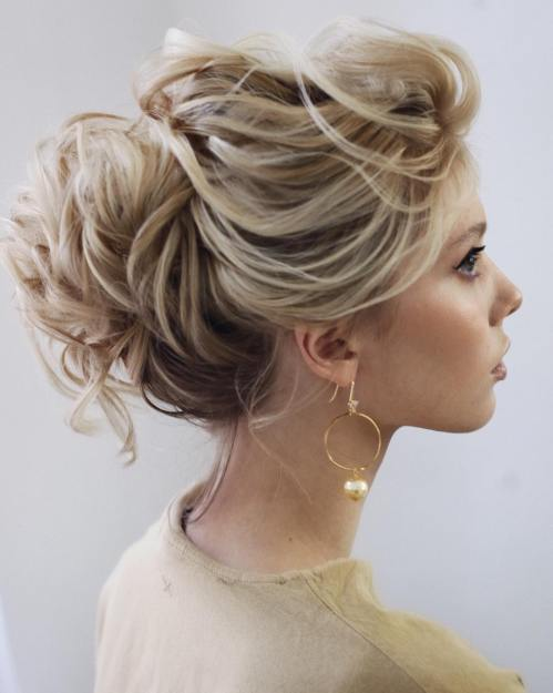 Textured Updo For Shoulder Length Hair