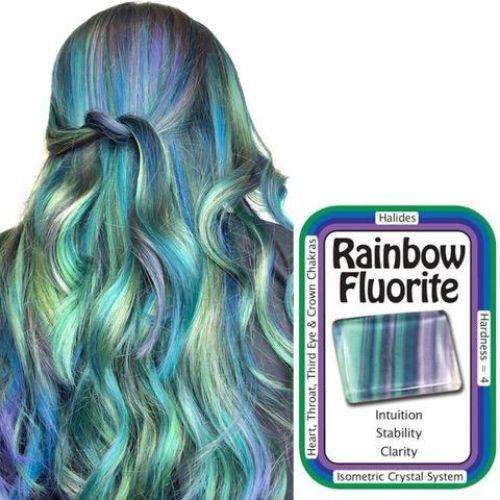 Rainbow Fluorite Hair