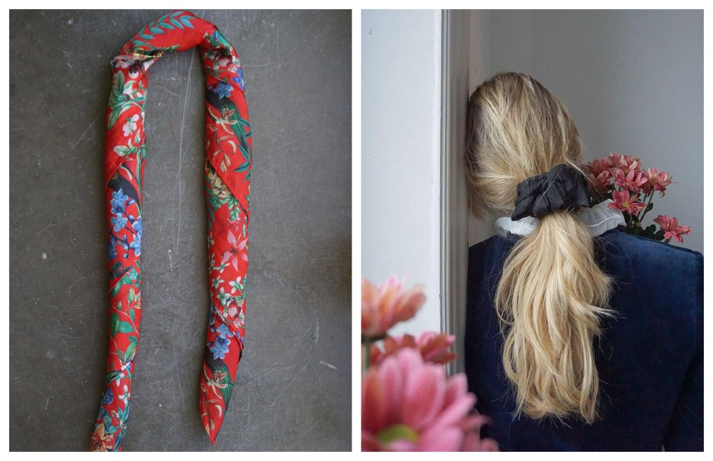 The Scrunchie Scarf Hairstyle