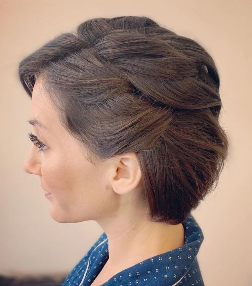 Half-Updo For Chin-Length Hair