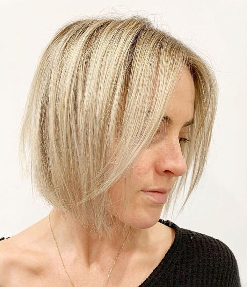 A-Line Bob For Chin-Length Hair