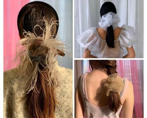 Oversized Scrunchies For Hair