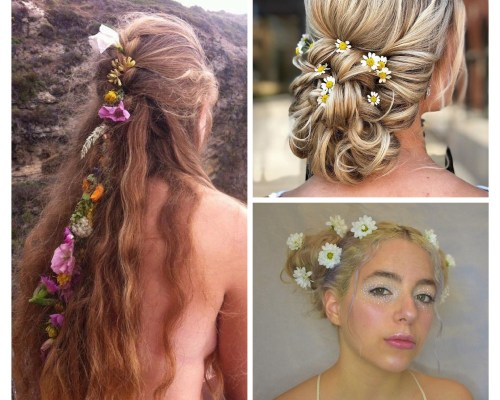 Fresh Flowers For Hair Styling