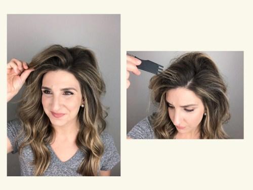 How To Tease Hair: Step 6